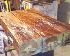 Solid oak 6 beam coffee table. | Etsy Oak Sleepers, Railway Sleepers, Tooth Fairy Doors, Indoor Range, Living Room Lounge, Types Of Furniture, Centre Pieces, Solid Oak, Barn Wood