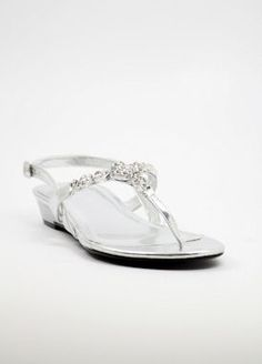 SILVER EVENING SHOES WITH FLAT HEELS (STYLE 800-23)