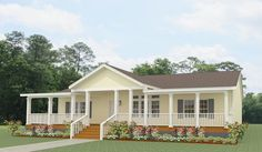 Manufactured homes don't have to look the same. See custom manufactured home upgrades you can choose to make your home truly unique. Mobile Home Porch, Mobile Home Exteriors, Porches For Mobile Homes, Remodeling Mobile Homes, Home Remodeling, Bathroom Remodeling, Manufactured Home Porch, Double Wide Manufactured Homes, Porch Kits