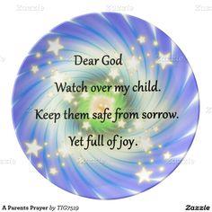 A Parents Prayer Porcelain Plates
