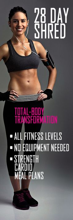 4-week full body fat burning fitness challenge - to whip you into shape…