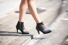 Made To Order Women Black Brown Point Heel Zipper Genuine Leather Bootie Boots