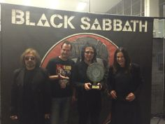 """Tony Iommi on Facebook (11-Jun-2014): """"Here is a snap from a disc presentation in Poland earlier today. Black Sabbath"""""""