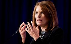 Rep. Michele Bachmann, R-Minn. speaks at the 2014 Values Voter Summit in Washington, Friday, Sept. 26, 2014. Prospective Republican presidential candidates are promoting religious liberty at home and abroad at a gathering of evangelical conservatives, rebuking an unpopular President Barack Obama while skirting divisive social issues that have tripped up the GOP.