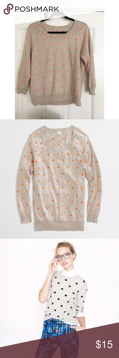 J. Crew Wallace polka dot sweater In great condition J. Crew Sweaters