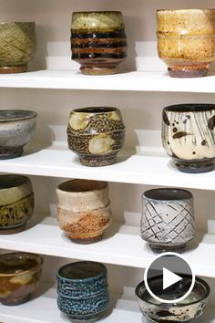 Three different kilns; three very different firings; every 80 guinomi set potter Phil Rogers puts together is truly a labour of pottery love. via @goldmarkgallery