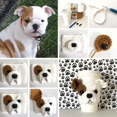 Some people think I must have a magic crochet hook to create my designs. I do not! You just need a good imagination and craft supplies. Here is a sneak peek at my design process! Dog Coffee, Coffee Cozy, Crochet Yarn, Crochet Hooks, Mug Cozy Pattern, Pattern Design, My Design, Crochet Dog Patterns, Cup Cozies
