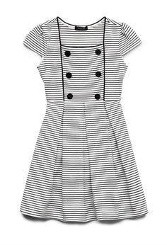 Striped Princess Dress (Kids) | FOREVER21 girls - 2000126332