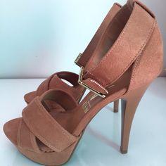 Dressbe | Sandália de Camurça Caramelo Vizzano #sandalia #shoes #sapatos #moda #fashion #style