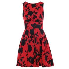 Closet Red closet floral cut out back dress- at Debenhams.com
