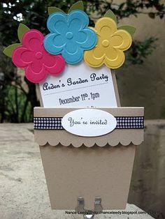 Flower pot invitation