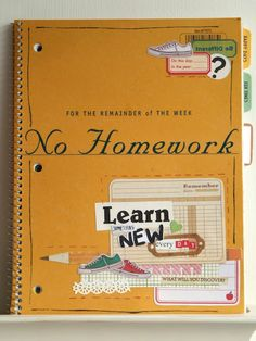 """learn something new everyday"" journal - I really like this idea!"