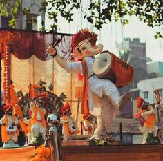 No photo description available. Jai Ganesh, Ganesh Lord, Ganesh Idol, Shree Ganesh, Ganesha Drawing, Lord Ganesha Paintings, Lord Shiva Painting, Ganesha Art, Ganesh Chaturthi Images