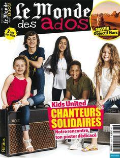 """Le Monde des Ados n°363 - 4 Mai 2016 : """" Kids United : chanteurs solidaires """" #ados #magazine #actualités"""