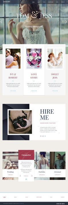 Exposure Responsive Photography WordPress Theme