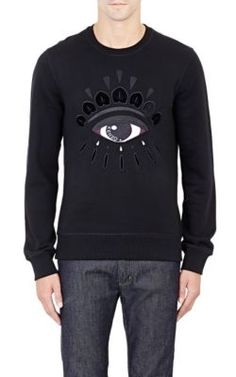 Kenzo Embroidered Fleece Sweatshirt at Barneys New York