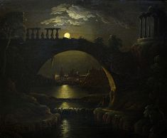 Moonlit River Scene ~ circle of Sebastian Pether (1790–1844) An extremely fine early 19th century oil painting on canvas depicting a moonlit river scene from the circle of Sebastian Pether. http://www.priory-fine-art.co.uk/PrioryFineArts/media/art/Sebastian-Pether.JPG?width=798&height=659&ext=.jpg https://www.facebook.com/DarkFantasticArts.MortsAngeNoirPage/photos/a.750362964996202.1073742556.435202689845566/941164482582715/?type=1