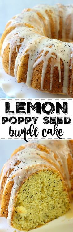 Lemon Poppy Seed Bundt Cake Lemon Poppy Seed Bundt Cake a moist and delicious l. - Lemon Poppy Seed Bundt Cake Lemon Poppy Seed Bundt Cake a moist and delicious lemon cake bursting - Cupcakes, Cupcake Cakes, Cupcake Recipes, Baking Recipes, Dessert Recipes, Kitchen Recipes, Recipes Dinner, Köstliche Desserts, Delicious Desserts