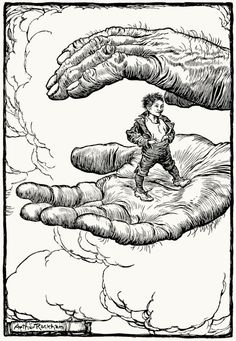 Tom Thumb, Arthur Rackham, from Hansel & Grethel &; other tales, by Brothers Grimm, New York, 1920.
