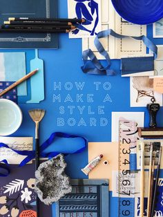 I love this blue! | How to make a mood board with Mae Mae Co on The House That Lars Built