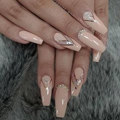 The creative acrylic coffin nails are perfect for your winter holiday To h. - The creative acrylic coffin nails are perfect for your winter holiday To hope …. – The creative acrylic coffin nails are perfect for your winter holiday To hope …, – Glamour Nails, Classy Nails, Trendy Nails, Elegant Nails, Nail Design Glitter, Glitter Nails, Fun Nails, Nails Design, Matte Nails