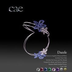 Cae Dazzle Tiara - Resize & Texture Options  - 6 Stone Options, & 2 Metal Finishes - 188L