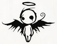 GOTHIC DARK FALLEN ANGEL OF DEATH VINYL DECAL CAR WINDOW BUMPER STICKER BLACK #Oracal