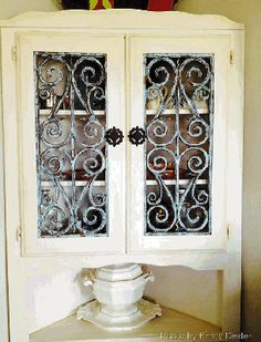 Cabinet Doors | Kitchen Cabinet Doors |Wrought Iron Cabinet Doors #35 fauxirondesign.com