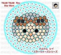 Tsum Tsum Star Wars Rey Perler Bead Pattern