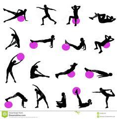 Pilates Silhouettes Stock Photo - Image: 34484120