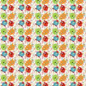 Monster fabric small rotation by tracydw70, click to purchase fabric, new coordinate in my Monster Love collection #monsterfabric #spoonflower #monsterlove