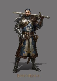 Fantasy sword and sorcery knight armor reference image Deormund Avarin, Hereward's father, Bran's mentor, former grey guard, killed by Eirean at Belenore Fantasy Male, Fantasy Armor, Medieval Fantasy, Dungeons And Dragons Characters, Dnd Characters, Fantasy Characters, Dungeons And Dragons Paladin, Fantasy Character Design, Character Concept
