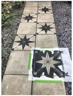How to makeover a concrete slab patio/path for under > Let's Talk. How to makeover a concrete slab patio/path for under > Let's Talk. Concrete Slab Patio, Pouring Concrete Slab, Painted Concrete Porch, Stenciled Concrete Floor, Painted Pavers, Concrete Stepping Stones, Painting Concrete, Concrete Garden, Garden Makeover
