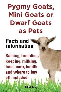 ♥ Pet Care ♥  Pygmy Goats as Pets. Pygmy Goats, Mini Goats or Dwarf Goats: Facts and Information. Raising, Breeding, Keeping, Milking, Food, Care, Health and Where by Elliott Lang,
