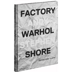 Phaidon Factory: Andy Warhol Book: Warhol's Factory as seen through the lens of a young Stephen Shore, providing an insider view of this extraordinary moment and place.   Stephen Shore was 17 years old when he began hanging out at The Factory - Andy Warhol's legendary studio in Manhattan. Between 1965 and 1967, Shore spent nearly every day there, taking pictures of its diverse cast of characters, from musicians to actors, artists to writers, and including Edie Sedgwick, Lou Reed, and Nico…