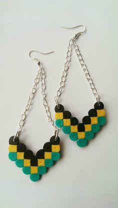 Beautiful Hanging Arrow Perler Beads Earrings by TurtlesandCoquies