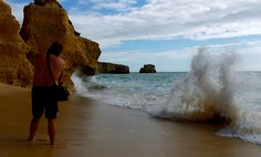 THE WAVE COMES AND GET HIM. ;-)) ALBUFEIRA, PORTUGAL. BY TONE LEPSØE