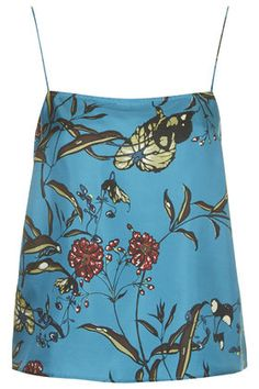Fable Print Silk Cami by Boutique