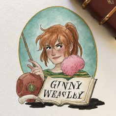 The more I look at her face the more I hate it, I might just redraw this one later and give this one away as part of a giveaway I'll do if I hit 5000 followers... #ginnyweasley #theweasleys #weasley #harrypotter #31daysofharrypotter #31daysofharry #potterportraits #hpcdrawing #drawing #illustration #art #artwork #painting #watercolor #gouache #fanart