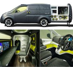 - Nissan unveiled its latest concept for the mobile office at the 2007 Tokyo Motor Show. The can hide a full mobile office in the rear and i. Photographer Needed, Underwater Photographer, Nissan, Kangoo Camper, T2 T3, Tokyo Motor Show, Van Camping, Camping Tips, Mobile Office