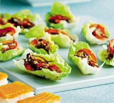 Sesame beef wraps  The perfect Asian-inspired pre-dinner nibble, perfect for a party get-together with friends