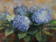 Still Life Painting - Hydrangea Study by Anna Rose Bain
