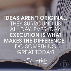 Ideas aren't original…