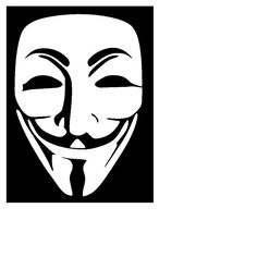 Guy Fawkes Mask in White / V for Vendetta Mask Decal, Yeti Decal, Car Decal, Laptop Decal, Beer Mug Decal, Anonymous - Oracle 651 by CenturyParkDesigns on Etsy