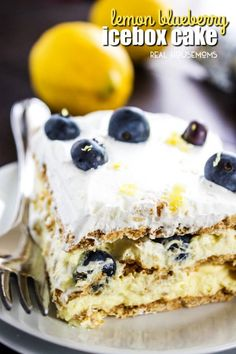 Lemon Blueberry Icebox Cake Is A Perfect Summer Dessert No Bake Recipe That S Light