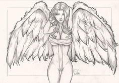 Angel by patricks-artist angels pencil drawings, tattoo drawings und angel Sexy Drawings, Drawing Sketches, Pencil Drawings, Art Drawings, Tattoo Drawings, Tatto Viking, Fantasy Kunst, Fantasy Art, Bd Art