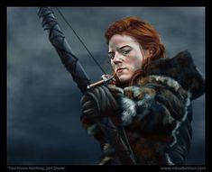 Game of Thrones: Ygritte - Nik Sebastian Game Of Thrones Pictures, Game Of Thrones Artwork, Game Of Thrones 1, Game Of Thrones Gifts, Winter Is Here, Winter Is Coming, Jon Snow And Ygritte, Rose Leslie, The North Remembers