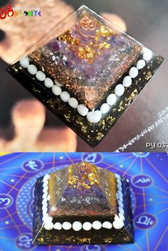 Grounding and Centering Orgonite Pyramid / Quartz & Tridacna / Handmade / Meditation / Positive Energy Generator Pagan Decor, Crystal Magic, Evil Spirits, Promote Your Business, Energy Level, Love To Shop, Small Businesses, Epoxy, Im Not Perfect