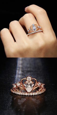 Vintage engagement rings 622693085961689722 - Product Information – Product Type: 1 Piece Ring – Ring Size Options: 6 / 7 / 8 / 9 Cross Dangle Blue Purple Green Crystal Rings Set Source by avicepauline Ruby Engagement Ring Vintage, Shop Engagement Rings, Crown Promise Ring, Promise Rings, Crown Rings, Accesorios Casual, Gold Diamond Wedding Band, Crown Wedding Ring, Diamond Rings