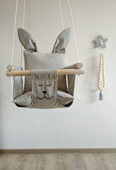 Baby swing, bunny baby swing, children's swing, children's swing, baby hammock … - Modern Kids Hammock, Baby Hammock, Kids Swing, Baby Swings, Hammock Swing, Room Hammock, Hammock Ideas, Hammock Chair, Childrens Swings